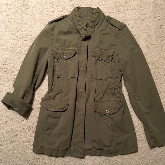 131ea134ad7 J Crew vintage Ripstop green utility jacket.